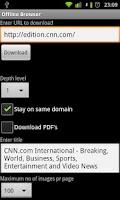 Screenshot of Offline Browser