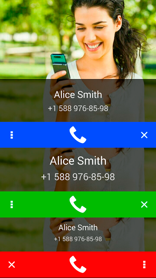 Call Confirm: captura de pantalla