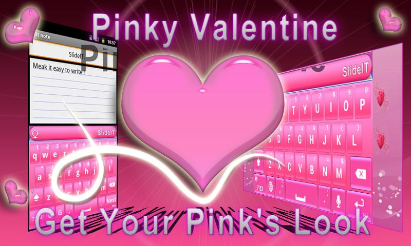 SlideIT Pinky Valentine Skin - screenshot