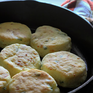 Smoked Gouda and Chive Buttermilk Biscuits.