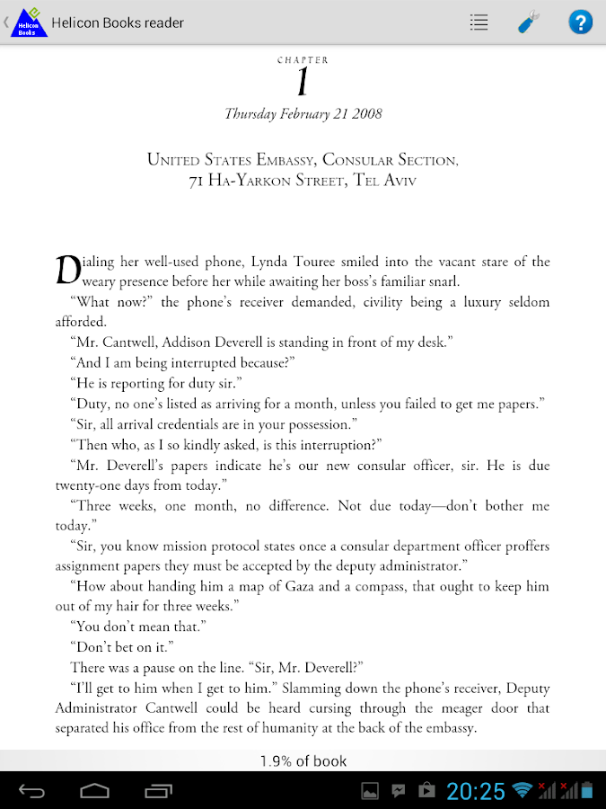 Helicon Books EPUB3 reader - screenshot