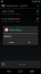 AudioLog HD Sound Recorder - screenshot thumbnail