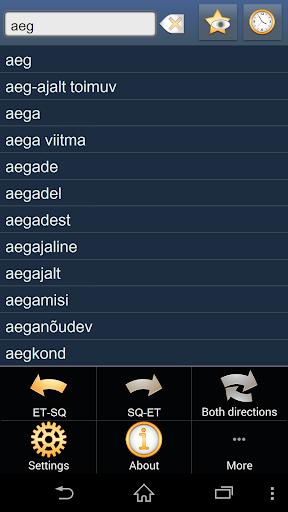 Estonian Albanian dictionary +