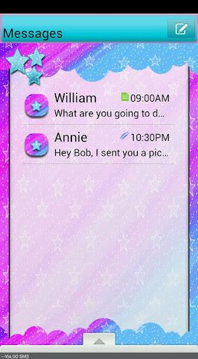 GO SMS THEME ColoerfulStars1