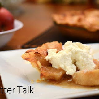 Open Face Apple Pie.