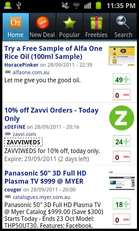 OzBargain Free- screenshot
