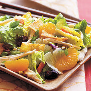 Asian Chicken Salad with Sweet and Spicy Wasabi Dressing.