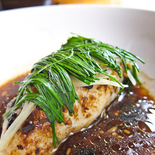 Steamed Fish with Black Bean Sauce.