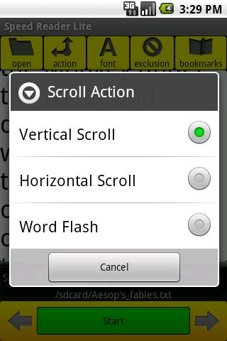 Speed Reader Lite- screenshot