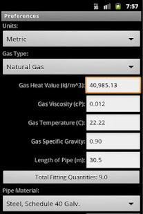 HVAC Pipe Sizer - Gas Low- screenshot thumbnail