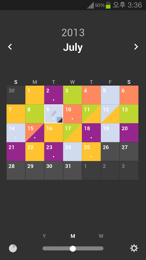 Color Calendar - screenshot