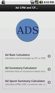 Ads CPM and CPC Calculator screenshot 0
