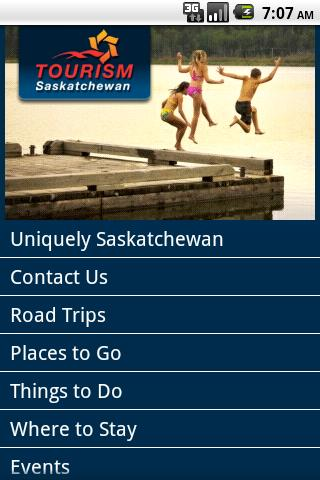 Tourism Saskatchewan- screenshot