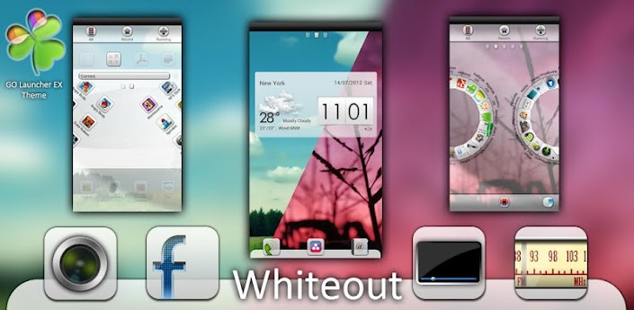 Whiteout GO LauncherEX Theme,download,apk,free,android