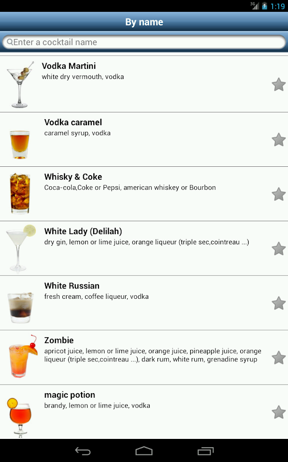 SOS Cocktail - Drink Recipes - screenshot