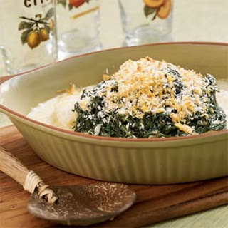Cod-and-Creamed-Spinach Casserole.