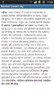 Sardinian dictionary- screenshot thumbnail