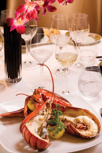 Regent-Seven-Seas-Lobster - Treat yourself to Prime 7's whole Maine Lobster drizzled with warm butter and lemon during your cruise aboard Seven Seas Voyager.