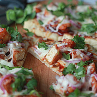 Barbecue Tofu Pizza with Optional Chicken Substitution