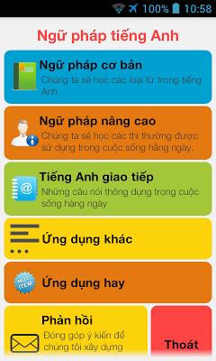 Ngữ pháp tiếng Anh - Full - screenshot