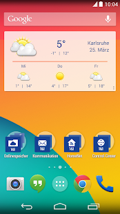 1&1 Wetter Widget - screenshot thumbnail