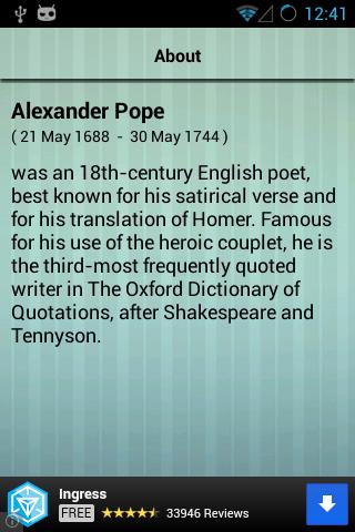 書籍必備APP下載 Alexander Pope Poems 好玩app不花錢 綠色工廠好玩App
