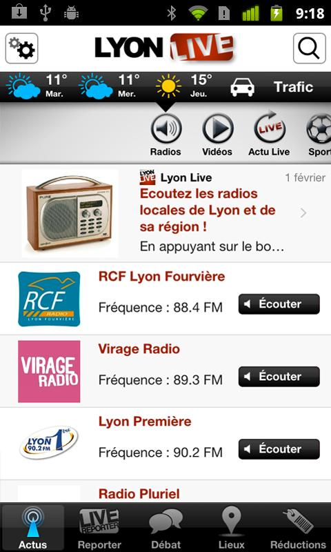 Lyon Live - screenshot