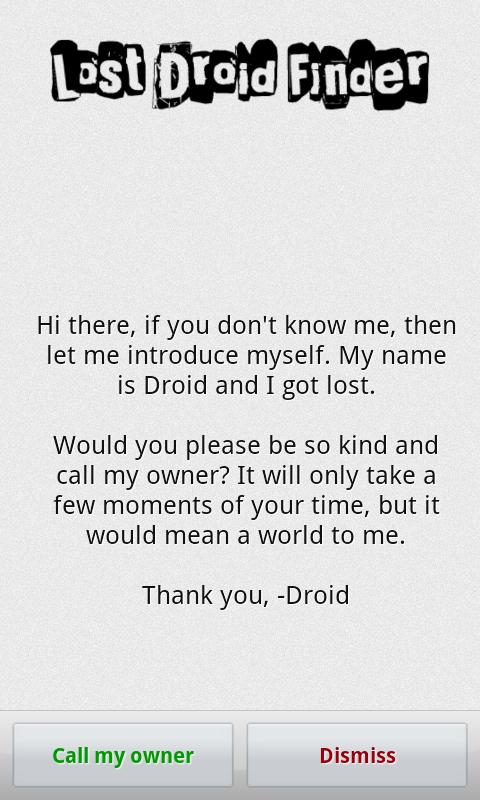 Lost Droid Finder · Lost Phone - screenshot