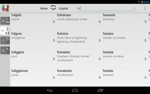 Free Dict Italian English- screenshot thumbnail