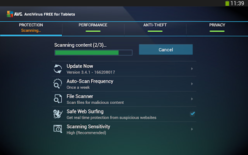 Tablet AntiVirus Security FREE - screenshot thumbnail