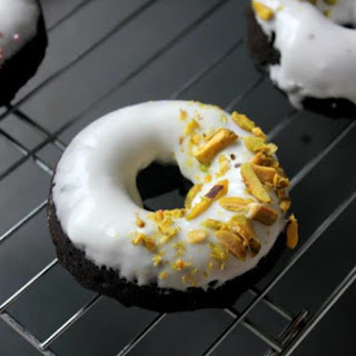 Chocolate-Coconut Cake Donuts.
