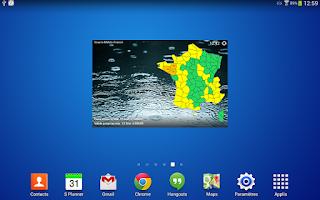 Screenshot of Vigilance Météo France