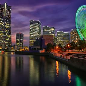 Yokohama City,Japan by Nurul Anwar - City,  Street & Park  Night