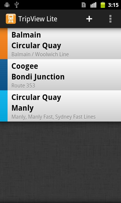 TripView Sydney Lite - screenshot