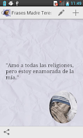 Screenshot of Frases de la Madre Teresa
