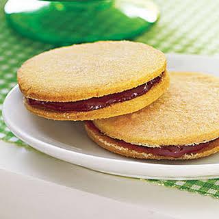Raspberry Sandwich Cookies.
