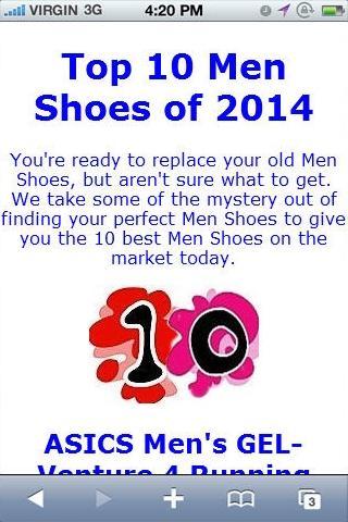 Men Shoe Reviews