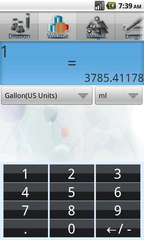 Axel Biolab-Calculator- screenshot