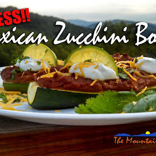 Meatless Monday ~ Mexican Zucchini Boats.