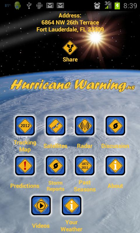 Hurricane Warning - screenshot
