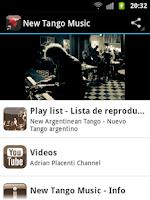 Screenshot of New Tango Music