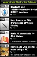 Screenshot of Electronics Tutorials