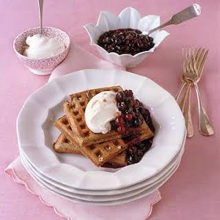 Buckwheat-Sour Cream Waffles.