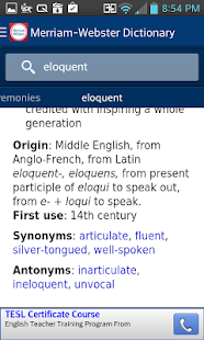 Dictionary - Merriam-Webster - screenshot thumbnail