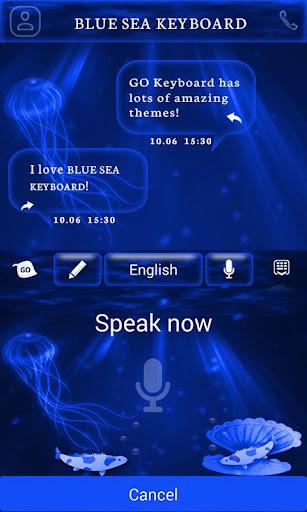 無料个人化AppのDeep Blue Sea Keyboard Theme|記事Game