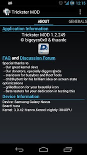Trickster MOD Kernel Settings- screenshot thumbnail