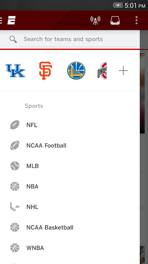 ESPN - screenshot