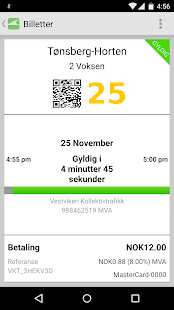 VKT Mobilbillett- screenshot thumbnail