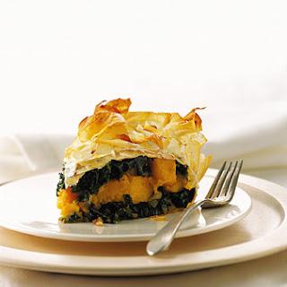 Kale, Butternut Squash, and Pancetta Pie