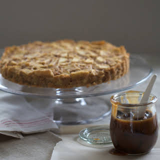 Seriously Simple Apple Tart with Hot Buttered Rum Raisin Sauce.